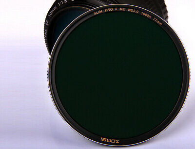 ZOMEI 49/52/77/82mm PROII Slim MC Neutral Density ND3.0 ND1000 10 Stop Filter