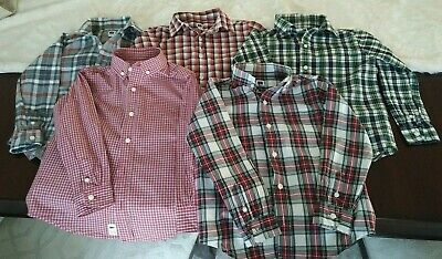 Lot (5) of Boys 4T Janie and Jack Button Down Shirts