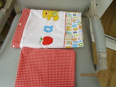 Baby cot duvet set mixed colour one cover and matching pillow case
