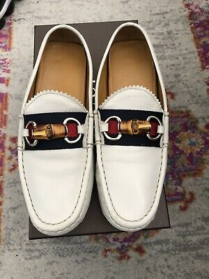 3a9d57db7af Women s Gucci Damo Web Bamboo Horsebit Driver Loafer Us Size 7.5 Europe 37.5