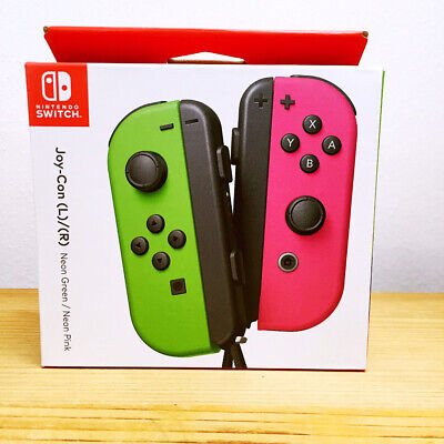 Nintendo Switch Joy-Con Pair (L/R) / Neon Pink and Neon Green / New Brand