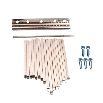 17pcs Musical Steel Keys for African Mbira Kalimba Thumb Piano Replacement