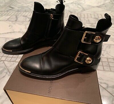 6b3ce63c4435 Louis Vuitton  Valley  black calf leather ankle boots size 38 perfect  condition