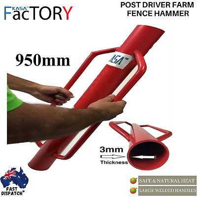 Post Driver Farm Fence Hammer Post Steel Star Picket Farming Agriculture 950mm