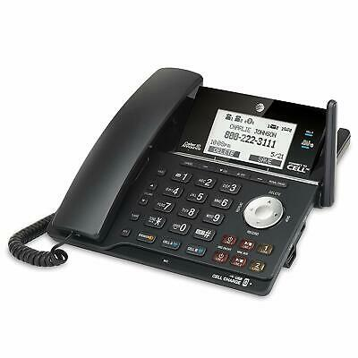 AT&T TL16013 2 Line Corded/Cordless Answering System With Connect To Cell Black