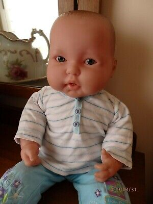 Berenguer baby doll 51cm(20inch) cloth body two little teeth good used condition