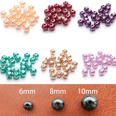 100pcs 6/8/10mm ABS Imitation Pearl Beads Round Plastic Acrylic DIY Spacer Beads