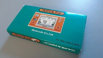 Nintendo Tropical Fish Game & Watch complete/boxed collector condition! TF-104