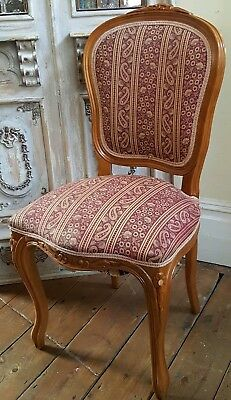 VINTAGE Shabby Chic BEECH French LOUIS Dining Side Hall Bedroom Chair
