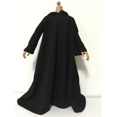 1/6 Scale Black Cloak Clothing for 12'' Dolls Action Figure Male Body Toys