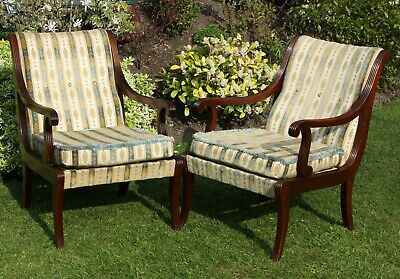 Pair of Vintage Library Chairs Mid Century Gillows Parker Knoll - Arm club easy
