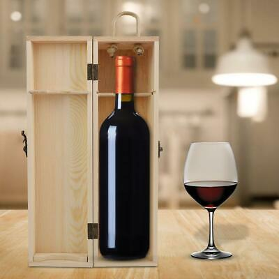1Pc Red Wine Box Portable Gift Pine Wood Wine Storage Container Box Wine Bottle