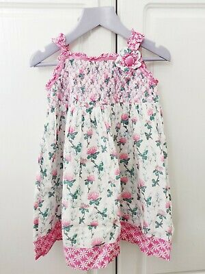 Monsoon girls floral party summer occasion dress age 12-18 months