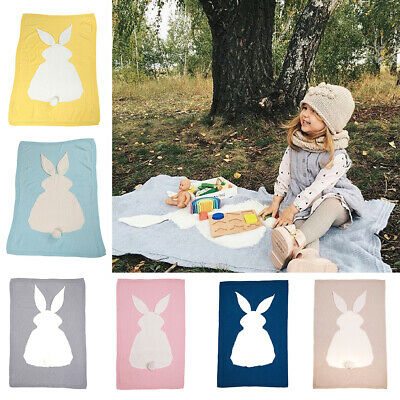 Cute Bunny Kids Baby Napping Blanket Rug Rabbit Bedding Towel Cover Throws Wrap
