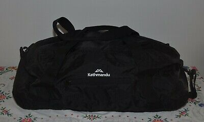 KATHMANDU black Pack & GO Pocket Cargo roll up 40L travel duffle bag