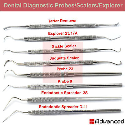 Dental Tartar Remover Tooth Scraper Calculus Plaque Removing Tools Perio Probes
