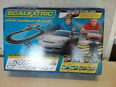 Vintage scalextric set Turbo flyers. Complete and working