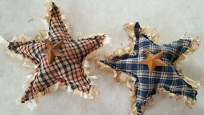 Primitive Stars Bowl Filler/Ornies/Decor Handmade 2 pc set