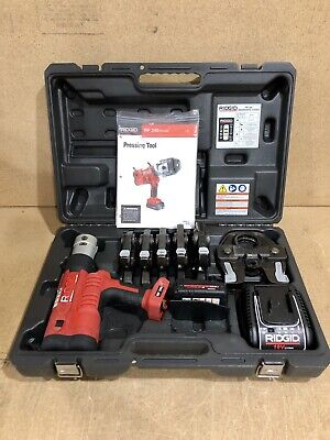 """Ridgid  RP340 Propress Tool with 1/2""""-2"""" Jaws, 1x Battery, Charger and Case."""