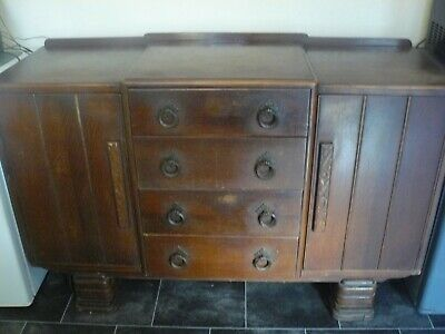 antique sideboard four drawer, two cupboards.