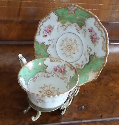 Vintage Coalport Porcelain Cup And Saucer Made In England V2665