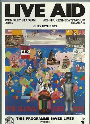 Live Aid 1985 Programme and Ticket U2 Queen David Bowie