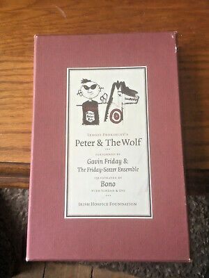 Peter and the Wolf book + audio CD Box set illustrations by Bono U2