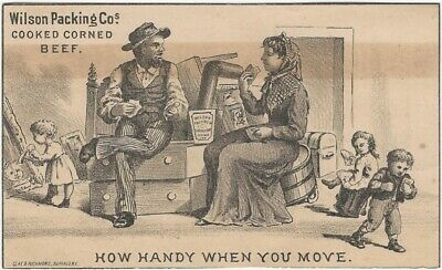 Corned Beef is Handy When You Move Victorian Trade Card