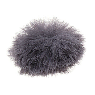 Silver Gray Outdoor Mic Fur Windscreen Cover Windshield Muff for Lapel Mic