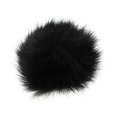 Black Outdoor Microphone Fur Windscreen Cover Windshield Muff for Lapel Mic