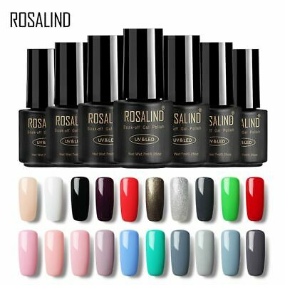 ROSALIND 7ml Semi Permanent Nail Polish Gel Poly Gel Soak Off Hybrid Varnishes