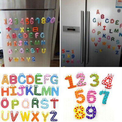 Cute Wood Fridge Magnet Alphabet Animal Number Early Educational Kids Baby Toy