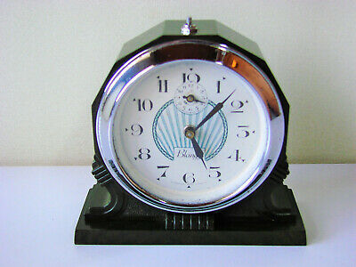 Art Deco Bakelite green Alarm Clock  - BLANGY France - Réveil