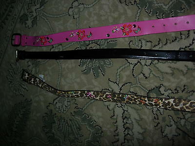 Girls 3 Pink,Brown Belts by Children Place Size: 24 mon to 4 New & Used