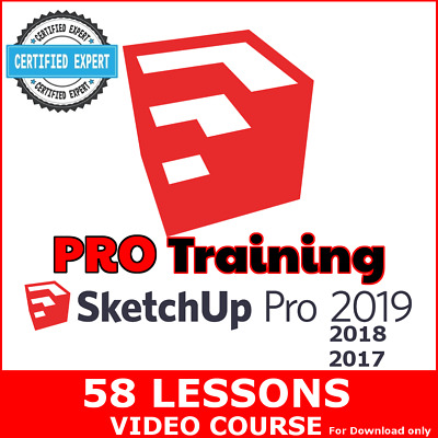 Video Courses SketchUp 2019 Pro (2018-2017) Training Video Lessons PRO Tutorials