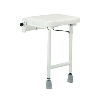 Wall mounted Shower Stools - Complete with seat and drop legs - Compact, Large