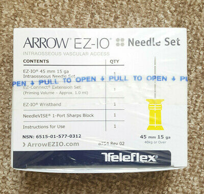 Arrow Ez-Io Intraosseous Aiguille Set 45 mm (Novembre 2020 Expiration Date )