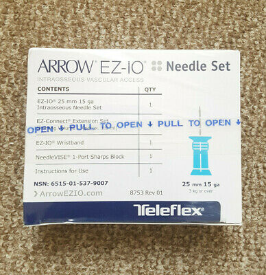 Arrow Ez-Io Intraosseous Aiguille Set 25 mm ( Dec 2021 Expiration Date )