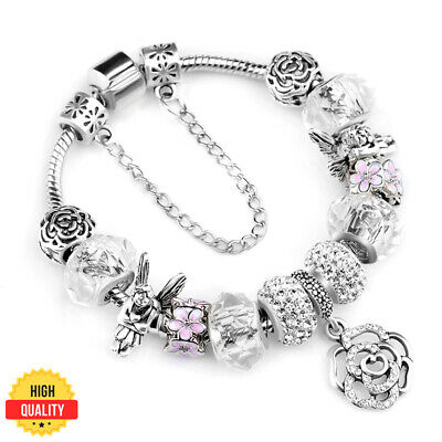 925 Fashion Authentic Pandora Bracelets With 'love Story' European Charms Silver