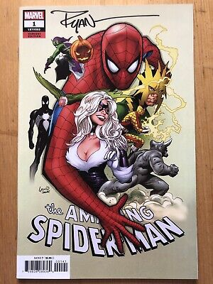 THE AMAZING SPIDER-MAN 1 MARVEL USA AUTOGRAFATO da RYAN OTTLEY!! UNICO