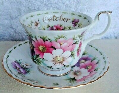 "Vintage Royal Albert ""Flower of the Month"" OCTOBER- Mint Condition"