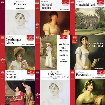Jane Austen 4 x mp3CDs Complete Audio Collection on mp3CDs (All her Major Works)