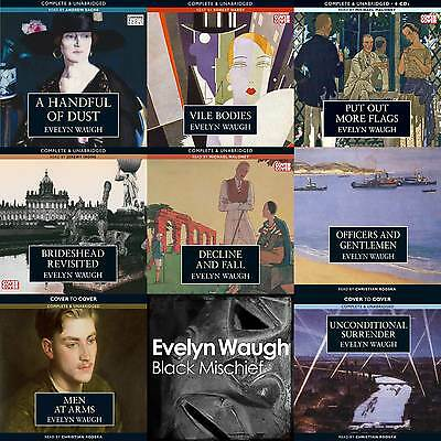 Evelyn Waugh Huge Audiobook Collection on mp3 DVD