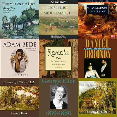 George Eliot Huge Audiobook Collection on mp3 DVD