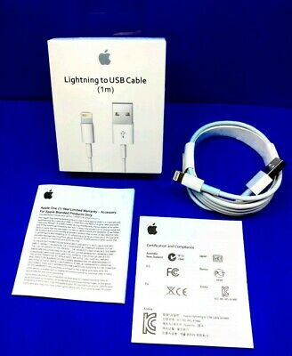 GENUINE ORIGINAL OEM APPLE LIGHTNING USB CABLE CHARGER CORD IPHONE X 8 7 6s PLUS