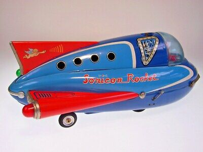 "GSR ROBOT GROSSE/BIG ""SONICON ROCKET"" MASUDAYA, 36cm, LIKE NEU/NEW/NEUF !"