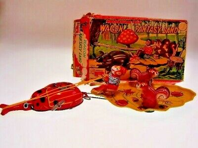 "GSFI TPS "" WAGON FANTASY LAND"" 29cm,WIND UP OK, NEUWERTIG/LIKE NEWnBAD BOX"