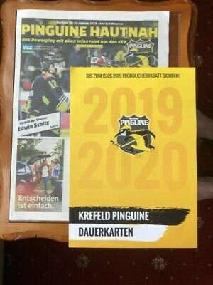 Krefeld Pinguine v Red Bull Munchen - 19th February 2019 - plus leaflet
