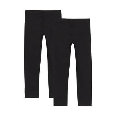 Debenhams - Pack of two girls black skinny fit school trousers - Black - UK 7Yrs