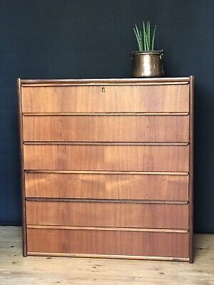 Danish midcentury tallboy chest of drawers
